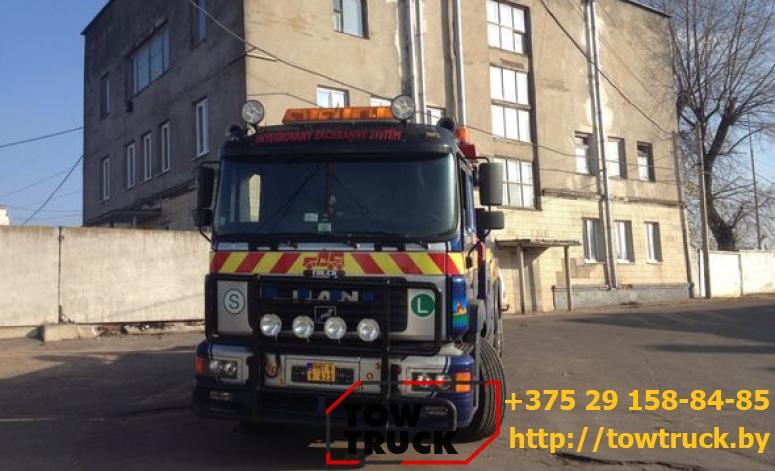 грузовой эвакуатор с двумя лебедками